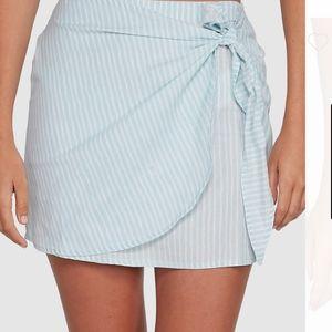 BILLABONG blue & white striped 'Candy Wrap' mini skirt